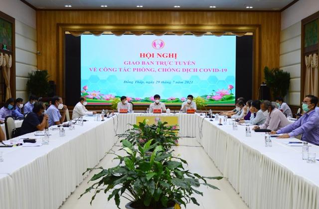 Quang cảnh hội nghị tại điểm cầu UBND tỉnh