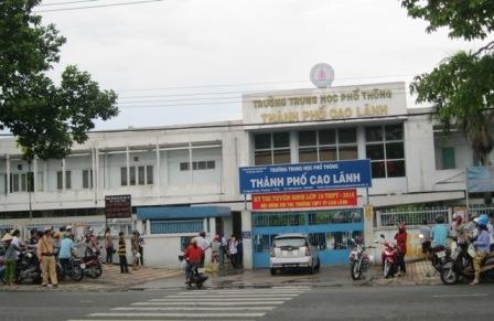 Kết quả hình ảnh cho Trường THPT Thành phố Cao Lãnh